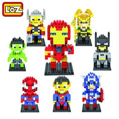 LOZ Diamond Building Blocks The Avengers Spiderman Superman Batman Iron Man Figure Toys Children Gift Free Shipping 9+ #>=#>=#>=#>=#> Click on the pin to check out discount price, color, size, shipping, etc. Save and like it!