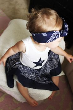 Dallas Cowboys inspired baby dress and headband, navy and gray Dallas girls bandana dress, Dallas Cowboys baby shower gift, by AshlynsAccessoryCo on Etsy https://www.etsy.com/listing/295273869/dallas-cowboys-inspired-baby-dress-and