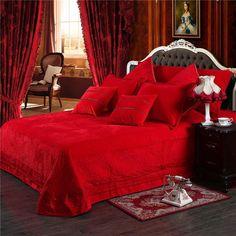 Red Bedding Sets, Cheap Bedding Sets, King Bedding Sets, Duvet Bedding, Luxury Bedding Sets, Comforter Sets, Affordable Bedding, Bedroom Red, Bedroom Decor