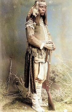 Tonto Apache scout ca. 1886. Arizona. Photo by Frank A. Randall.