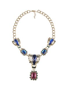 Buy Crystal Bug Statement Necklace