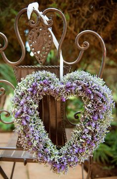 Lavender Heart - French lavender and limonium/babies breathe - Wild Lavender…