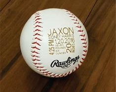 Personalized Custom Engraved Baseball Gift for Groomsman Ring | Etsy