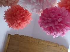 i'm OBSESSED with making these tissue paper flowers! so simple and inexpensive. :)
