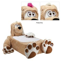 "Fun Animal Bed 100% plush Hypo-Allergenic Fabric (Retail Price $400.00) ""Our Price $155.00"" only at nomorerack.com"