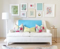 Like how these prints look above the couch