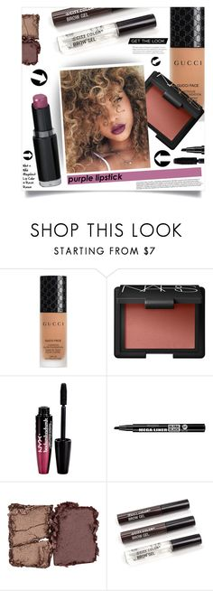 """""""Purple Lipstick #1"""" by tawnee-tnt ❤ liked on Polyvore featuring beauty, Gucci, NARS Cosmetics, Charlotte Russe, Bourjois, BeautyTrend, Beauty, beautiful and purplelipstick"""