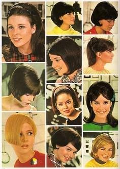 1960's hair styles--queens of vintage's added by Barbara DeLisle uploaded to pinterest