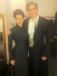 """Antony Hansen via Twitter """"Raoul and Madame Giry are friends really!!! Me and the lovely @ meshelldj pic.twitter.com/5wR07mnEAc"""""""