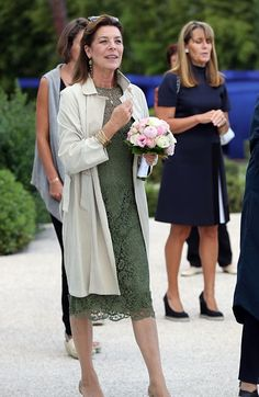 Princess Caroline of Hanover arrives to visit the 'Danse, Danse, Danse' exhibition at the 'New National Museum of Monaco' in Monaco on Sep...