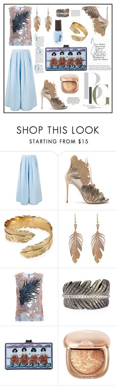 """""""Bronze & Blue Summer"""" by felicia-mcdonnell ❤ liked on Polyvore featuring Rachel Comey, Casadei, Melinda Maria, Annette Ferdinandsen, Emilio Pucci, Michael Aram, Edie Parker, Mary Kay and Whiteley"""