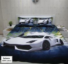 Enjoy FREE SHIPPING and browse our lamborghini bedding sets online made of organic materials for your modern and comfortable bedroom.