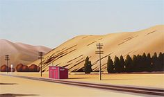 Brian Dahlberg // Otira  Oil on canvas 45 x 75 cm Regional Surrealism  #Art #Landscape #Oil #Painting #NewZealand  The historic railway station at Cass. The tiny hamlet of Otira, nestled in the mountains of Arthur's Pass, is in the Canterbury region of New Zealand's South Island. In 1923 the opening of the Otira Tunnel transformed this small settlement into a busy centre. The 1980s however, saw a dramatic downturn for the region, happily now reversed.