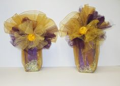 Gold and Purple Packages Organza Bags, Purple Gold, Wedding Favors, Glass Vase, Bridal Shower, Gift Wrapping, Packaging Ideas, Prints, Color