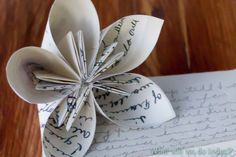 DIY origami flower