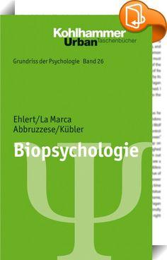 Biopsychologie    ::  Dieses Lehrbuch bezieht sich auf die Kernthemen der Biopsychologie: Genetik, Zentrales Nervensystem, Autonomes Nervensystem sowie das Immun- und endokrine System. Es werden psychologische Konstrukte und Konzepte dargestellt, die für die Biopsychologie eine hohe Relevanz besitzen. Des Weiteren werden zentrale Modulatoren der biopsychologischen Forschung und ihrer Anwendungsfelder aufgezeigt. Die Komplexität der Interaktion zwischen den genannten Teilbereichen der B...