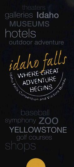 ✨Client Spotlight✨ Idaho Falls Where Great Adventure Begins. Theaters. Galleries. Museums. Hotels. Outdoor Adventure. Baseball. Symphony. Zoo. Yellowstone. Golf Courses. Shops.