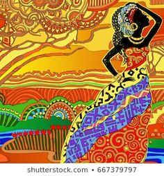 Stock Photo and Image Portfolio by IVANCHINA ANNA | Shutterstock Beautiful African Women, Free Banner, Buddha Art, Silhouette, Anna, Illustrations, Portfolio, African Art, Animated Gif