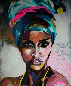 African american art, african art, abstract portrait, potrait painting, a. African Art Paintings, Black Artwork, Afro Art, Arte Pop, African American Art, Portrait Art, Abstract Portrait, Portrait Ideas, Painting & Drawing