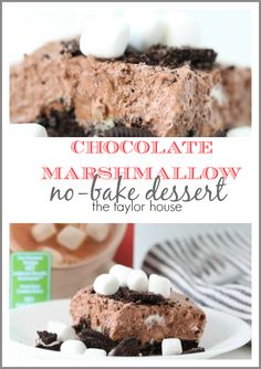 Chocolate Marshmallow No-Bake Dessert using TruMoo Chocolate Marshmallow Milk! #ad #trumoomilk