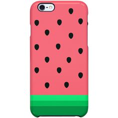 Uncommon Summer Melon iPhone 6 TS Deflector Case ($29) ❤ liked on Polyvore featuring accessories, tech accessories, phone cases, phones and multi