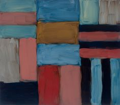 'Cut Ground Blue Pink Red' (2011) by Sean Scully
