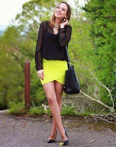 Falda Amarilla | Miradas y zapatos