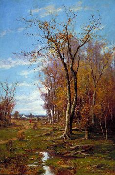 Autumn Landscape by Du Bois Fenelon Hasbrouck, 1888. oil on canvas. via @American Art Museum