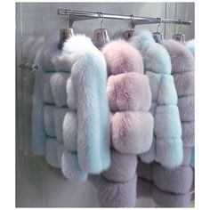 Pastel dyed fox furs