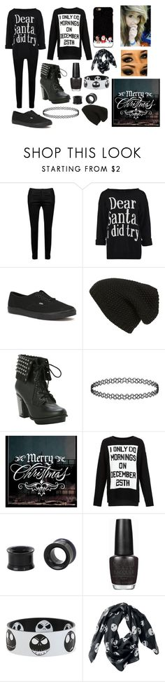 """""""Black Christmas"""" by abipatterson on Polyvore featuring Vans, Phase 3 and OPI"""
