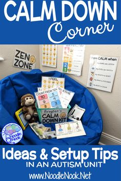 How to Make a Calm Down Corner in Your Classroom- Ideas, Printable Kits, Posters and Rules to set up a calm down area in your SpEd classroom or Autism Unit to help with behavior management and self-regulation. Learn more about the visuals, activities, and Autism Classroom, Special Education Classroom, Classroom Ideas, Calm Classroom, Preschool Classroom Setup, Inclusion Classroom, Classroom Resources, Future Classroom, Kids Education