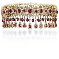 A RUBY AND DIAMOND FRINGE NECKLACE   Jewelry Auction   Jewelry, necklace   Christie's
