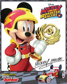 Mickey and the Roadster Racers | Mickey is always geared up for racing fun! Print out your own autographed photo of Mickey here!