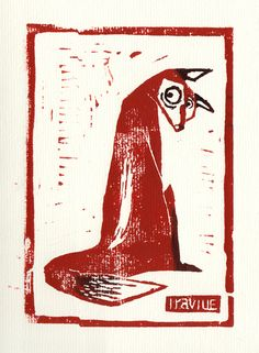 Fox - Linocut TUMBLRIRAVILLE.DE DEVIANT ART FACEBOOK YOUTUBE