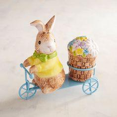 White Easter Bunny Salt & Pepper Shakers