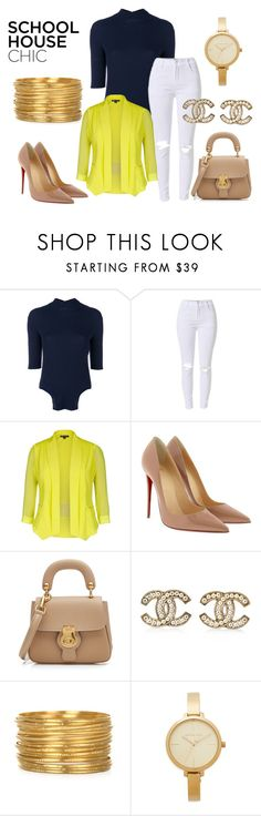 """""""Untitled #57"""" by orangechickenjuanita on Polyvore featuring Nina Ricci, City Chic, Christian Louboutin, Burberry, Chanel, Michael Kors and plus size clothing"""