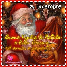 Buona Vigilia di Natale e Buon Cenone immagini nuove Natale Christmas Wishes, Merry Christmas, Grinch, Animation, Cards, Movie Posters, Holidays, Winter, Party