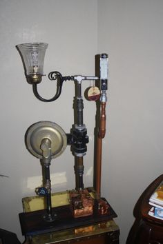 Steampunk lamp by Joseph Muehlbauer.