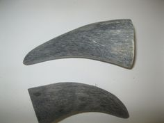 2 Cow horn tips...E2B67....Raw, unfinished cow horns...........ox horns