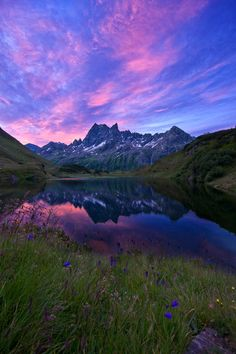 Sunrise at the Alps by Johannes Netzer on 500px