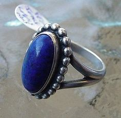 Silver and Lapis. Georg Jensen ring.