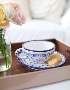 Floral Latte Mug & Saucer {The Little Market}