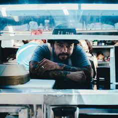 """Chef Wes Avila of Guerrilla Tacos."" Chef Wes Avila of Guerrilla Tacos drives around the streets of Los Angeles in a food truck delivering fine dining techniques in a street food environment."