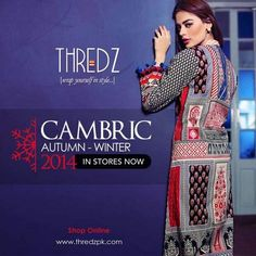 Latest Cambric Winter Collection 2014-15 By Thredz