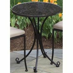 Alfresco Home 24 Inch Ponza Bistro Table And Base,Mosaic Design By Alfresco  Home