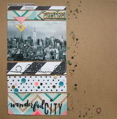 Wonderful City - New York Layout by Fishstickinlove #scrapbooking #cratepaper #journey