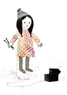 Mac Barnett . & . Jon Klassen . Extra Yarn . { gorgeous illustrations in this children's book } .