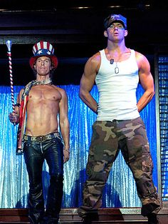 "I'm gonna have to see ""Magic Mike"" just for Matthew and Channing...."