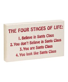 Look what I found on #zulily! 'Four Stages of Life' Box Sign #zulilyfinds