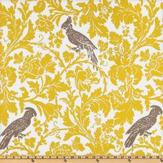 Grey Yellow Birdl Printed Curtain Panels 2 Panels 52 X 120 Unlined ($140) ❤ liked on Polyvore featuring home, home decor, window treatments, curtains, furniture, home & living, silver, grommet curtains, gray grommet curtains and yellow valance